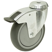 4-15/16 x 1-1/4 Rhombus Bolt Hole Caster w/ One Position Swivel Lock