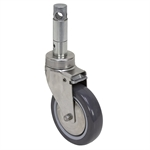 "5"" x 1-1/4"" Grip Ring Swivel Caster"