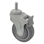 "4"" x 1-1/4"" Medcaster Swivel Threaded Stem Caster w/ Directional Brake NG04QDP125DLTS03"
