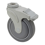 "5"" x 1-1/4"" Medcaster Swivel Bolt Hole Caster w/Total Brake NG04QDP125TLHKU1"