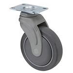 "5"" x 1-1/4"" MEDCASTER SWIVEL PLATE CASTER NG05QDP125SWTP01"