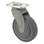 "5"" x 1-1/4"" Medcaster Swivel Plate Caster NG05QDP125SWTP01LP"