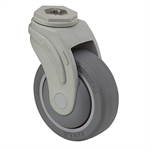 "4"" x 1-1/4"" Medcaster Swivel Bolt Hole Caster"