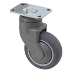 "4"" x 1-1/4"" Medcaster Swivel Plate Caster PD04RPP125SWTP01"