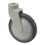 "8"" x 1-1/4"" Medcaster Swivel Bolt Hole Caster"