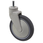 "8"" x 1-1/4"" Medcaster Swivel Grip Ring Caster PG08RPP125SWGR04"
