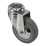"4"" x 1-1/8"" Medcaster Swivel Bolt Hole Caster"