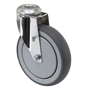 "6"" x 1-1/4"" Medcaster Swivel Bolt Hole Caster"