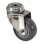 "3"" x 1-1/4"" Medcaster Swivel Bolt Hole Caster"