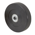 "5"" x 1-3/16"" Jarvis Hard Rubber Wheel 5-462AX"