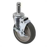 "5"" x 1-3/16"" Albion Swivel Grip Ring Caster w/ Wheel Brake 02XB05031S021"