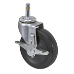 "4"" x 15/16"" Faultless Swivel Grip Ring Caster W/ Wheel Brake 30437M"