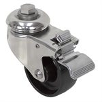 "3"" x 1-1/4"" CATIS SWIVEL BOLT HOLE CASTER W/ TOTAL BRAKE Y380LT0SS W309RSB"