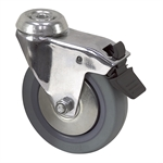 "4"" x 15/16"" Shepherd Swivel Bolt Hole Caster w/ Total Brake"