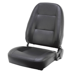 Black High Back Reclining Mower Seat