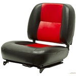 Flip Forward Black/Red Seat w/Adjuster & Switch