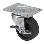 "3"" x 1-1/4"" Colson Swivel Plate Caster w/Brake GDP3356152001"