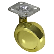 2 Inch Brass Plated Ball Caster w/Plate Mount