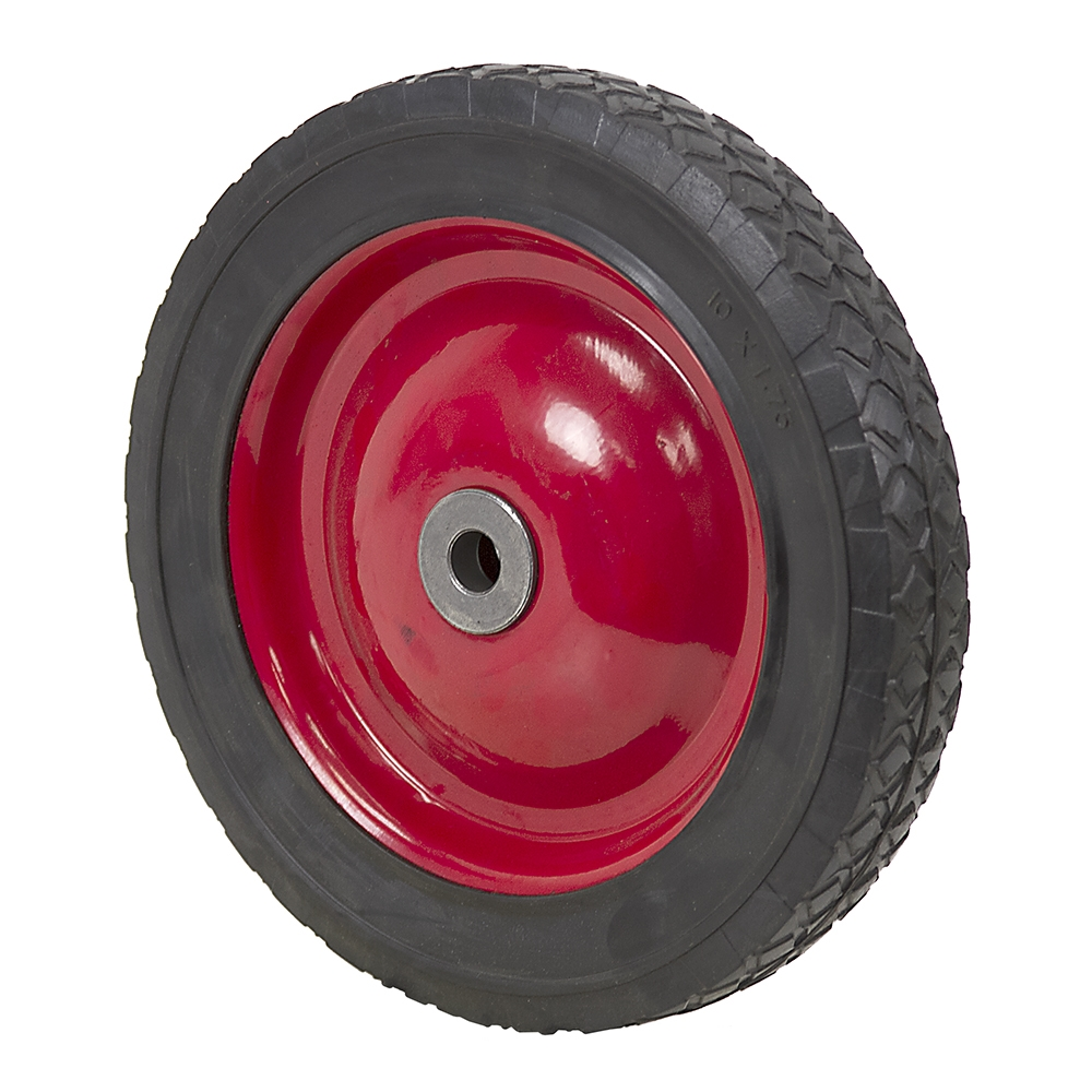 10x1.75 Wheel w/Red Steel Wheel And Bushings | Semi ...
