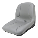 Grey Mower Seat