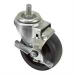 "4"" x 1-1/2"" Swivel Threaded Stem Caster W/Brake"