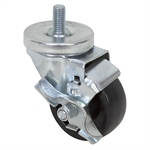"3x1-1/4"" Swivel Stem Caster W/Brake"