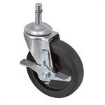 "4"" x 1"" Colson Swivel Grip Ring Caster w/ Wheel Brake LGR0451352001"