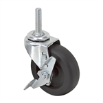3X7/8 Threaded Stem Swivel Caster w/Brake