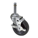 "3"" x 13/16"" Tente Swivel Grip-Ring Caster w/ Wheel Brake"
