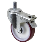 "6.25"" x 1.5625"" Tente Swivel Round Stem Caster w/ Swivel Brake"