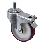 "6.25"" x 1.5625"" Tente Swivel Round Stem Caster w/ Total Brake"