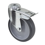 "4"" x 1"" Tente Bolt Hole Caster with Total Lock Brake"
