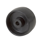 "1.5"" x 0.79"" Tente Black Polypropylene Wheel"