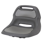 BLACK/GRAY PLASTIC RIDER REPLACEMENT SEAT