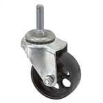 "3"" x 1-3/16"" Threaded Stem Caster with Iron Wheel"