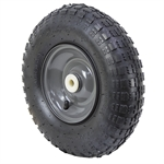 4.00-6 GREY STEEL WHEEL w/RUBBER TIRE