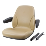 Tan Seat with Armrests