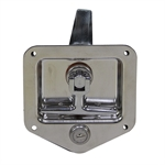 Stainless Steel T-Handle Latch W/Mounting Holes Key Lock Buyers Products model L8815