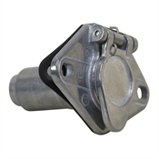 6-Pin Round Die-Cast Zinc Trailer Connector - Truck Side