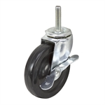 "4"" x 7/8"" SWIVEL THREADED STEM CASTER W/BRAKE"