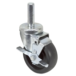 "4"" x 1-1/2"" SWIVEL STEM CASTER w/BRAKE"