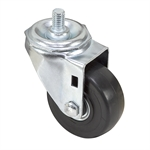 "3"" x 1-1/4"" Swivel Threaded Stem Caster"