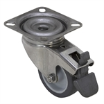 "2"" x 3/4"" SWIVEL PLATE CASTER W/BRAKE AND SWIVEL LOCK"