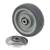 "4"" x 1-1/4"" Thermoplastic Rubber on Plastic Wheel"