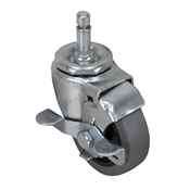 "3"" x 7/8"" Swivel Grip Ring Caster w/Brake"