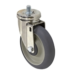 "5"" x 1-1/4"" Swivel Threaded Stem Caster"