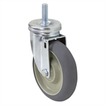 "5"" x1-1/4"" Swivel Threaded Stem Caster"