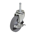 "4"" x 7/8"" SWIVEL GRIP RING CASTER w/Brake"