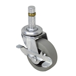 "2"" x 3/4"" SWIVEL GRIP RING CASTER w/BRAKE"