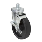 "5"" x 1-1/4"" Swivel Threaded Stem Caster w/Brake"